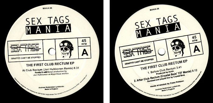 The first club rectum EP - sex tags mania